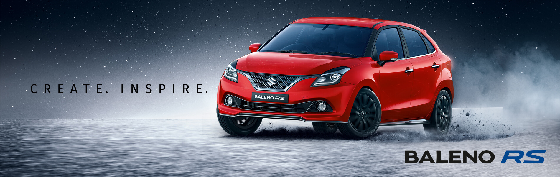 Baleno RS - Create. Inspire. Banner