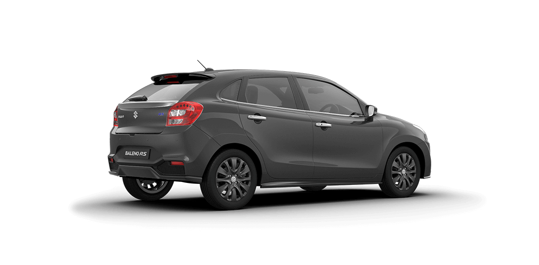 Baleno RS Grey Car back Side View