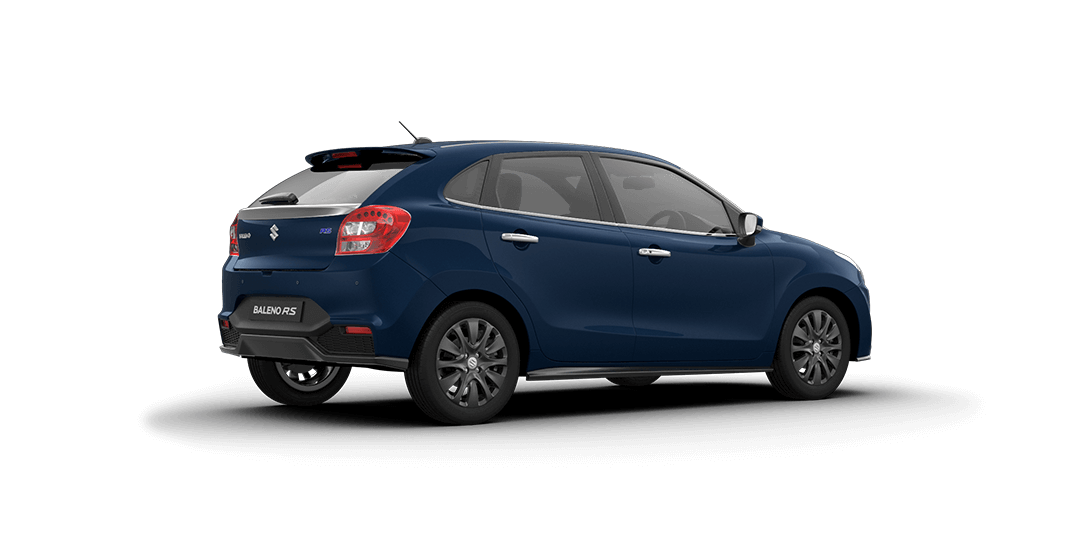Baleno RS Ray Blue Car Back Side View