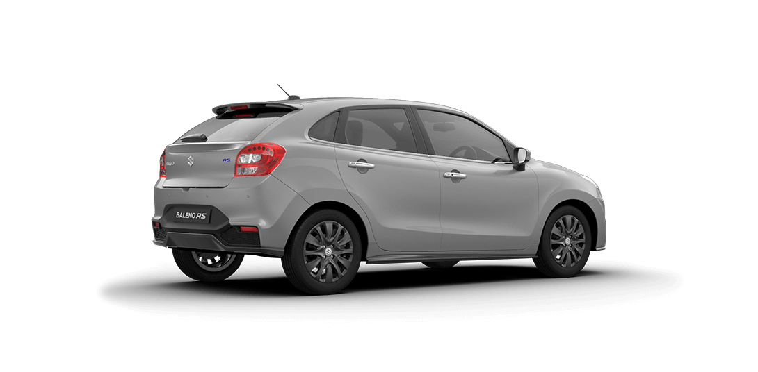 Baleno RS Silver Car Back Side View