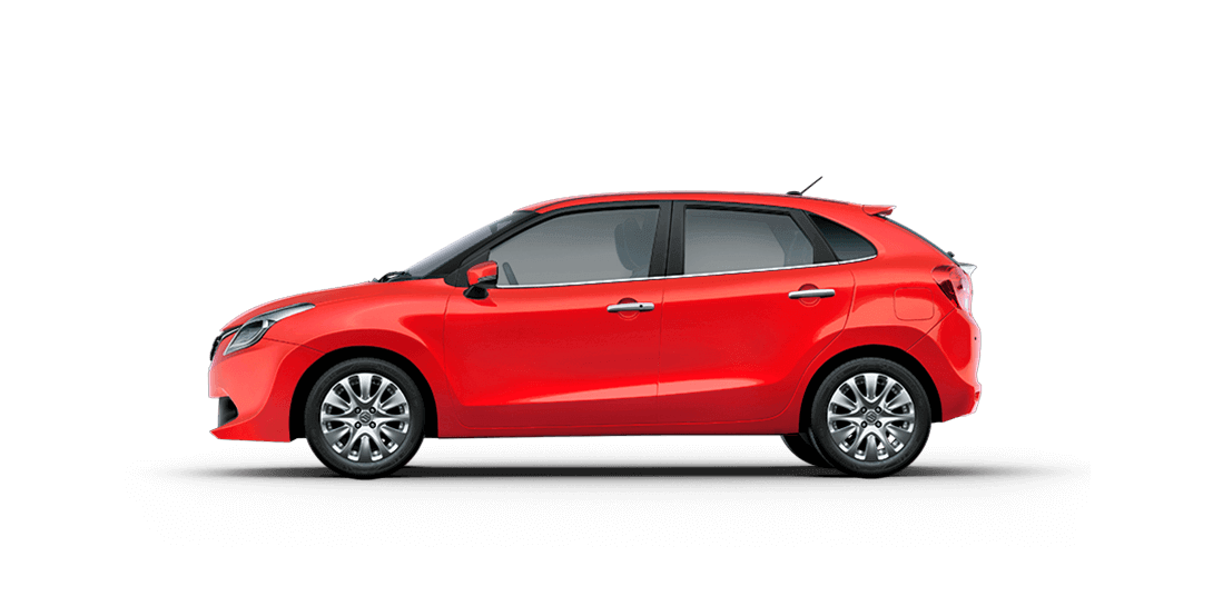 Baleno Red car side views
