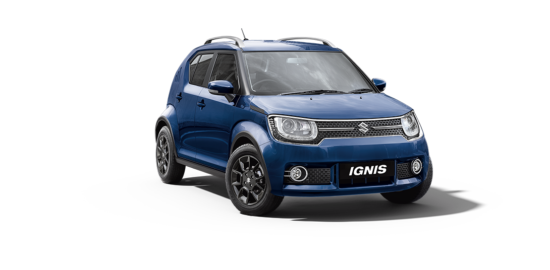 Ignis Car in Nexa Blue Color